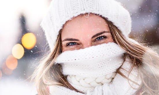 Женская красота зимой.
